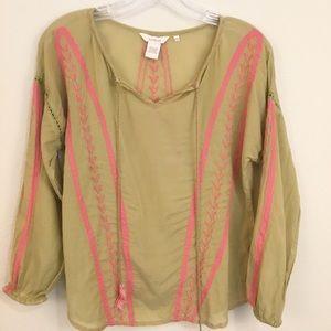 Sundance Athena Embroidered Tunic Top Sz XS